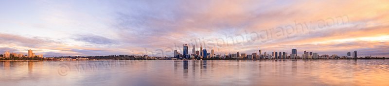 Perth and the Swan River at Sunrise, 6th May 2014