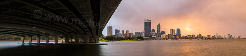 Perth and the Swan River at Sunrise, 8th May 2014