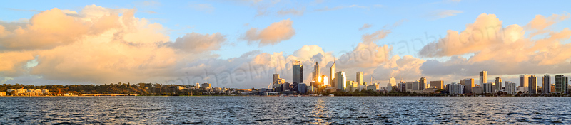 Perth and the Swan River at Sunrise, 9th May 2014