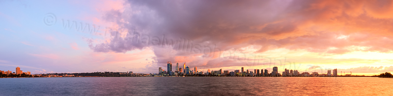 Perth and the Swan River at Sunrise, 12th May 2014
