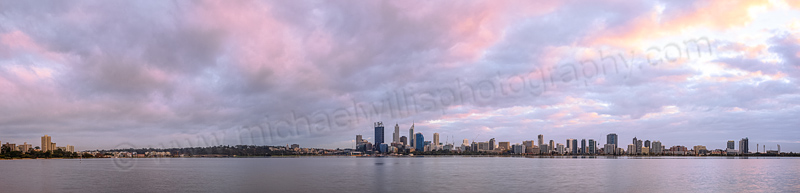 Perth and the Swan River at Sunrise, 13th May 2014