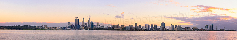 Perth and the Swan River at Sunrise, 15th May 2014