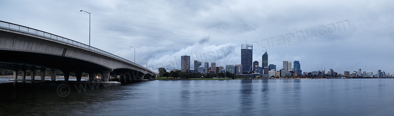 Perth and the Swan River at Sunrise, 23rd May 2014