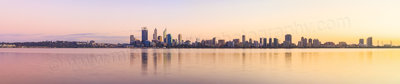 Perth and the Swan River at Sunrise, 29th May 2014