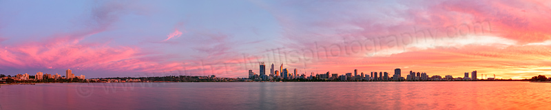 Perth and the Swan River at Sunrise, 31st May 2014