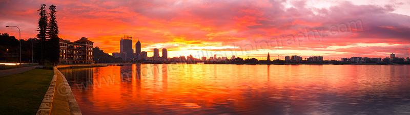 Perth City and the Old Swan Brewery at Sunrise, 3rd June 2014