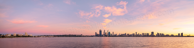 Perth and the Swan River at Sunrise, 5th June 2014