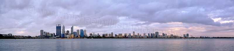 Perth and the Swan River at Sunrise, 10th June 2014