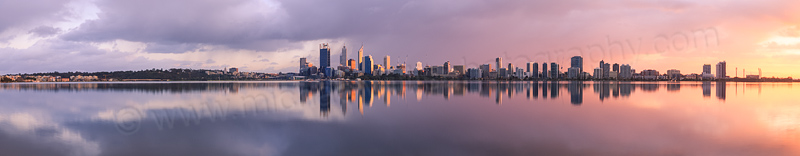 Perth and the Swan River at Sunrise, 22nd June 2014
