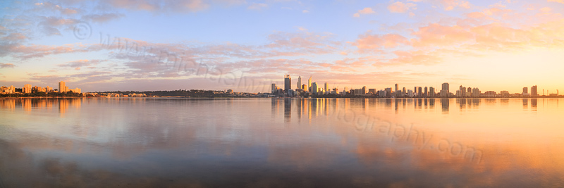 Perth and the Swan River at Sunrise, 27th June 2014