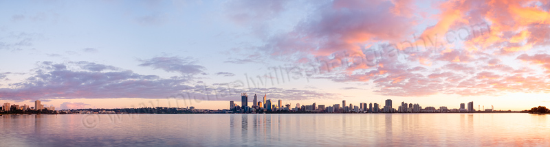 Perth and the Swan River at Sunrise, 5th July 2014