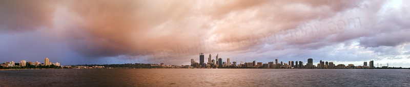 Perth and the Swan River at Sunrise, 6th July 2014