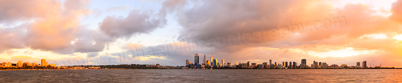 Perth and the Swan River at Sunrise, 7th July 2014