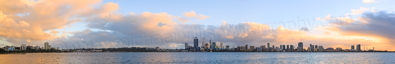 Perth and the Swan River at Sunrise, 8th July 2014