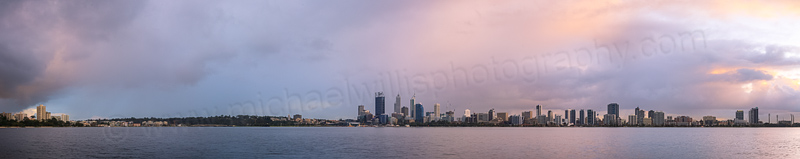 Perth and the Swan River at Sunrise, 15th July 2014