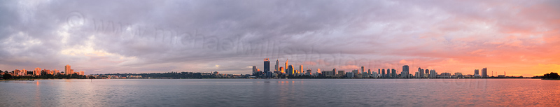 Perth and the Swan River at Sunrise, 23rd July 2014
