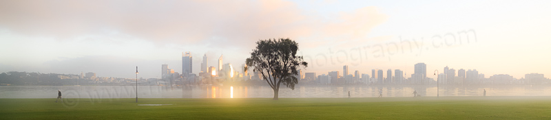 Misty Morning by the Swan River, 24th July 2014