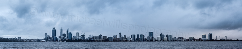 Perth and the Swan River at Sunrise, 21st August 2014