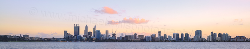 Perth and the Swan River at Sunrise, 22nd August 2014