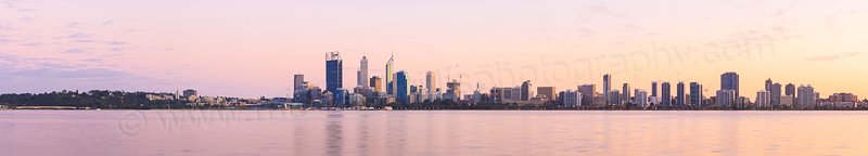 Perth and the Swan River at Sunrise, 23rd August 2014