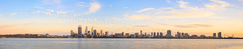 Perth and the Swan River at Sunrise, 4th September 2014