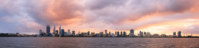 Perth and the Swan River at Sunrise, 7th September 2014