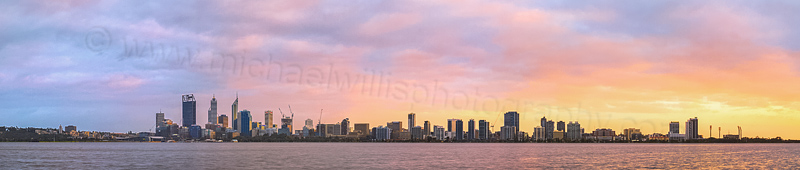 Perth and the Swan River at Sunrise, 9th September 2014
