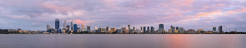 Perth and the Swan River at Sunrise, 10th September 2014