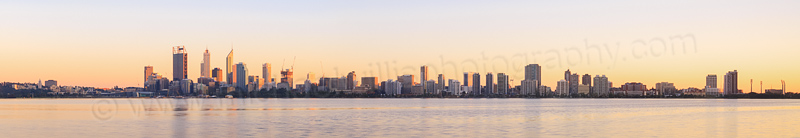 Perth and the Swan River at Sunrise, 12th September 2014