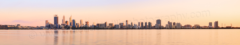 Perth and the Swan River at Sunrise, 14th September 2014