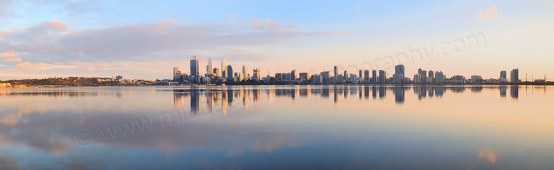 Perth and the Swan River at Sunrise, 15th September 2014