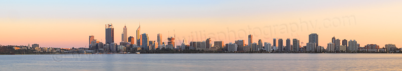 Perth and the Swan River at Sunrise, 16th September 2014