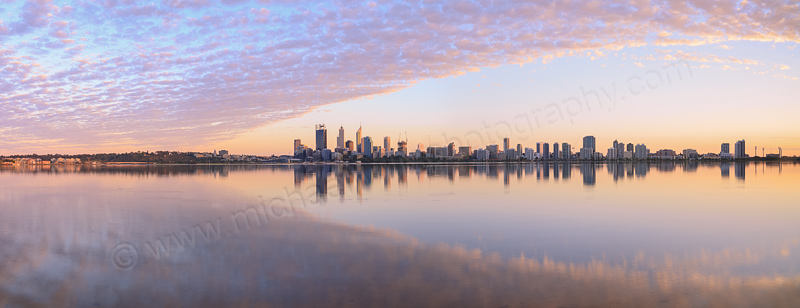 Perth and the Swan River at Sunrise, 17th September 2014