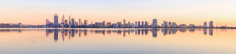 Perth and the Swan River at Sunrise, 18th September 2014