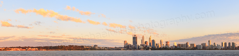 Perth and the Swan River at Sunrise, 21st September 2014