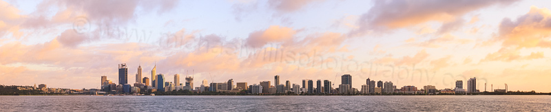 Perth and the Swan River at Sunrise, 27th September 2014