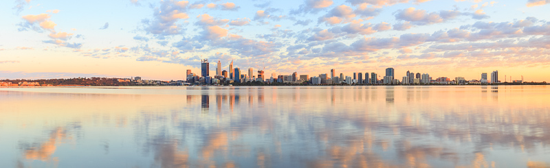 Perth and the Swan River at Sunrise, 2nd October 2014