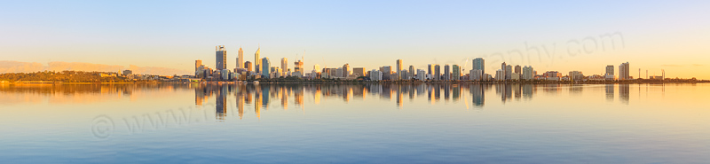 Perth and the Swan River at Sunrise, 3rd October 2014