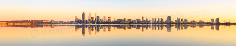 Perth and the Swan River at Sunrise, 4th October 2014