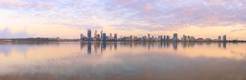 Perth and the Swan River at Sunrise, 17th October 2014