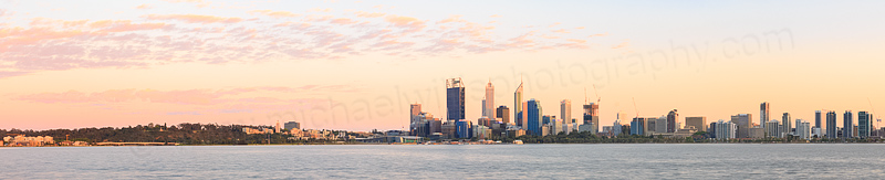 Perth and the Swan River at Sunrise, 16th October 2014