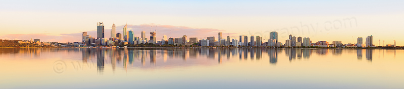 Perth and the Swan River at Sunrise, 20th October 2014