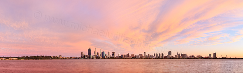Perth and the Swan River at Sunrise, 22nd October 2014