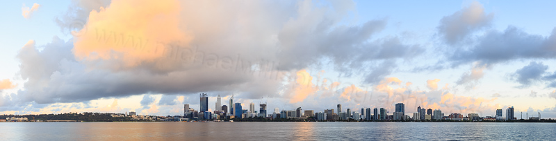 Perth and the Swan River at Sunrise, 23rd October 2014