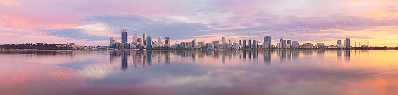 Perth and the Swan River at Sunrise, 24th October 2014