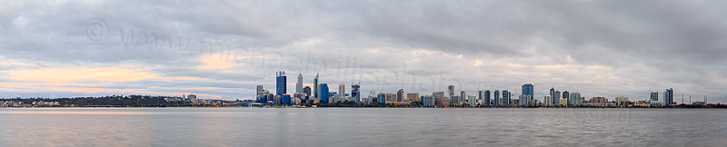 Perth and the Swan River at Sunrise, 25th October 2014