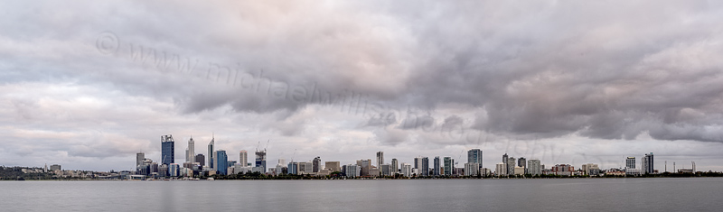Perth and the Swan River at Sunrise, 26th October 2014