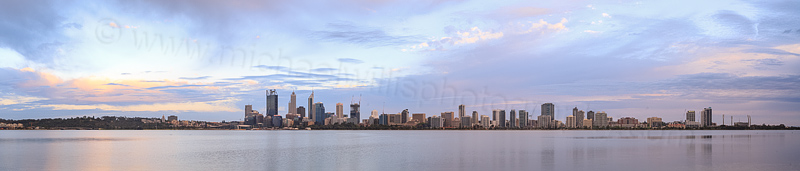 Perth and the Swan River at Sunrise, 29th October 2014