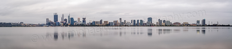 Perth and the Swan River at Sunrise, 30th October 2014