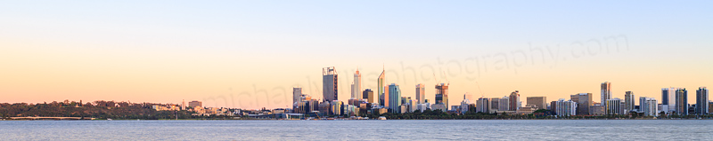 Perth and the Swan River at Sunrise, 1st November 2014